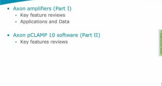 Axon Amplifiers and pCLAMP Software-key Features Reviews (Chinese version)